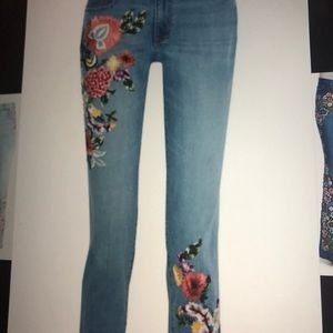 Alice and Olivia embroidered jeans